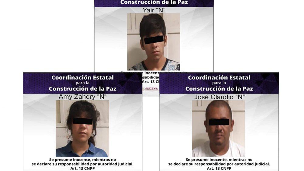 3 sujetos ofrecían droga a transeuntes en el Centro de Jojutla