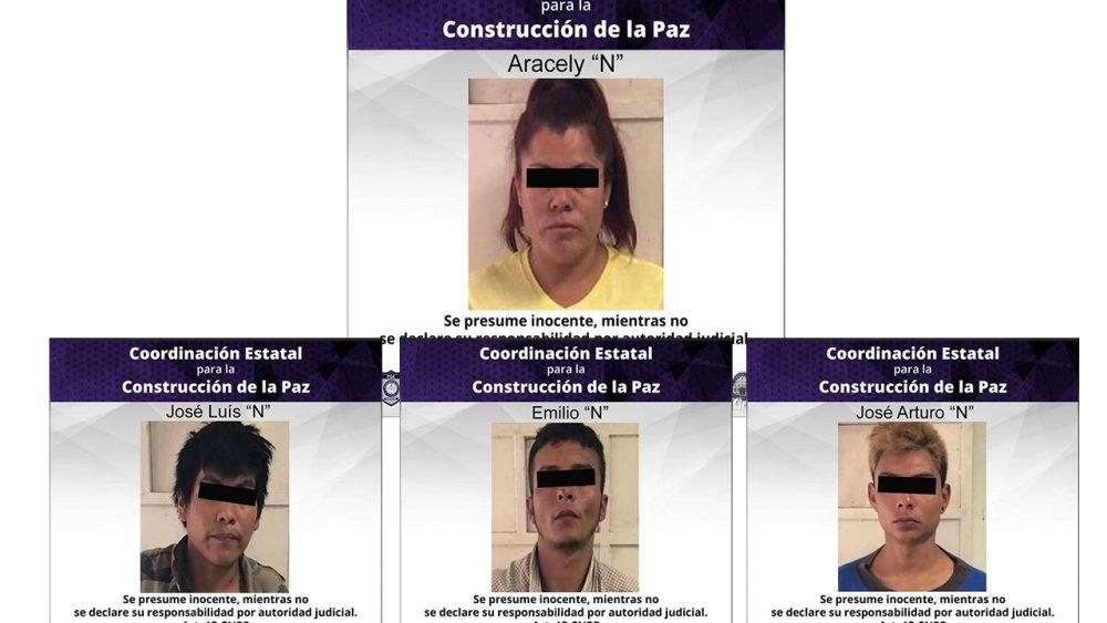 Sujetos armados y con droga son detenidos en Mazatepec